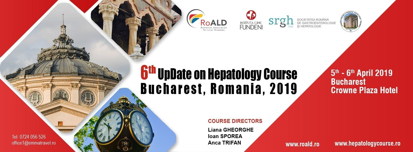 6th UpDate on Hepatology Course Bucharest 2019, Romania
